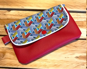 trendy and colorful clutch
