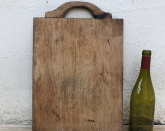ANTIQUE VINTAGE FRENCH bread or chopping cutting board wood 14061816