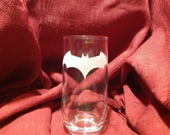 Verre avec gravure theme de Batman