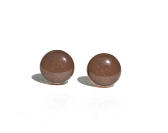 Chocolate Brown Stud Earrings • 9 Colors Available • Gifts For Her • Simple Everyday Earrings • Dainty Earrings