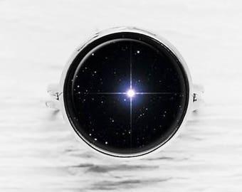Bright North Star Adjustable Ring