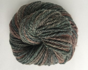 Handspun Hand dyed Yarn, Jacob fiber, Grunge Girl