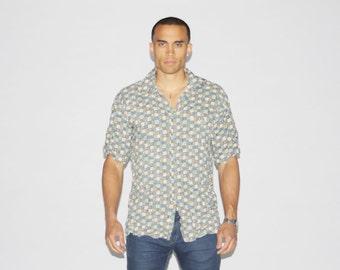 1990s Pierre Cardin Shirt - 90s Designer Shirt - Vintage Button Up Shirts - MT0082