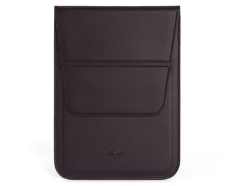 iPad Air Case - iPad Pro 9.7 Case - iPad 9.7 Case - Stand function - Leather Pouch - Smooth Matt Leather- BLACK / RED