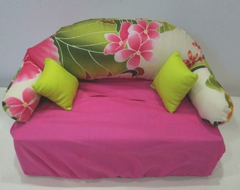 Pink Hawaiian Tropical Tissue Box Couch