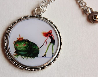 Necklace the prince frog