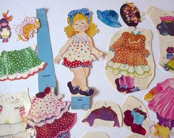 Vintage paper doll cut outs, paper ephemera