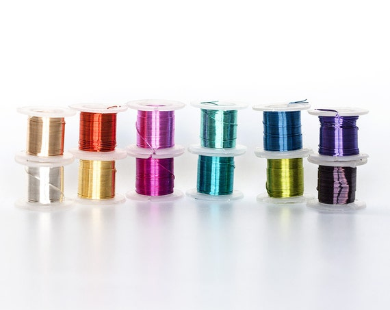 2322 Assorted wire spools 28 gauge Jewelry wire 0.32mm Multicolor ...