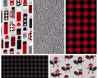 Woodland Nursery Bedding - Flannel Baby Bedding - Toddler Bedding - Woodland Baby Bedding - Lumberjack Nursery - Flannel Crib Sheet