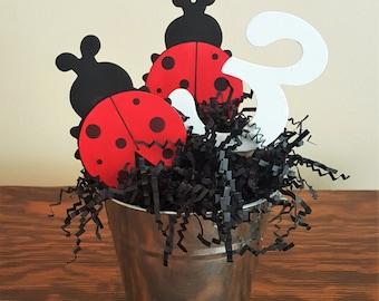 Ladybug Centerpiece, Ladybug Baby Shower, Ladybug Birthday Party, Baby Shower Centerpiece, Birthday Party Centerpiece, Ladybug Party Decor