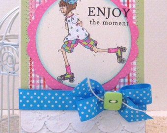 Enjoy the moment  - Card and Envelope