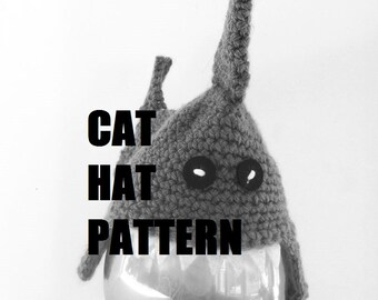 Shark Cat Hat Pattern, Hat For Cats, DIY Crochet Cat Hat, PDF, Instant Download Pattern