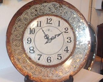 Not a Clock - Fancy Ceramic Plate - Plate with Clock Design