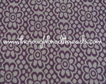 Purple Daisies - New Old Stock Vintage Fabric 60s 70s Knit