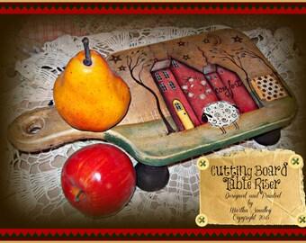 Apple Tree Cottage Original Design E Pattern - Cutting Board Table Riser