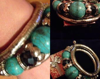 Chunky statement wrap-around bracelet