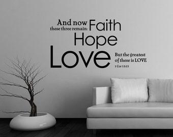 1 Corinthians 13:13 | Scripture Wall Art