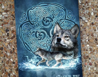 Celtic Wolf Blank Book Journal