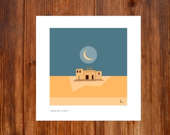"Print from my Collection ""Minimal Mood"" - 'Arabian Night'"