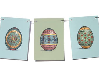 Spring Egg Bunting | Easter | Garland | Decoration | Illustration