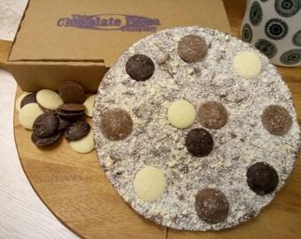Triple Chocolate Brownie Pizza
