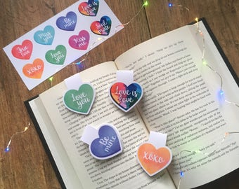 Love is Love - Candy Hearts - Bookmarks & Stickers