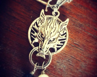 Game of Thrones House Stark inspired necklace pendant.