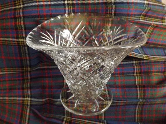 Edinburgh Crystal Vase Backstamp E L Edinburgh And Leith