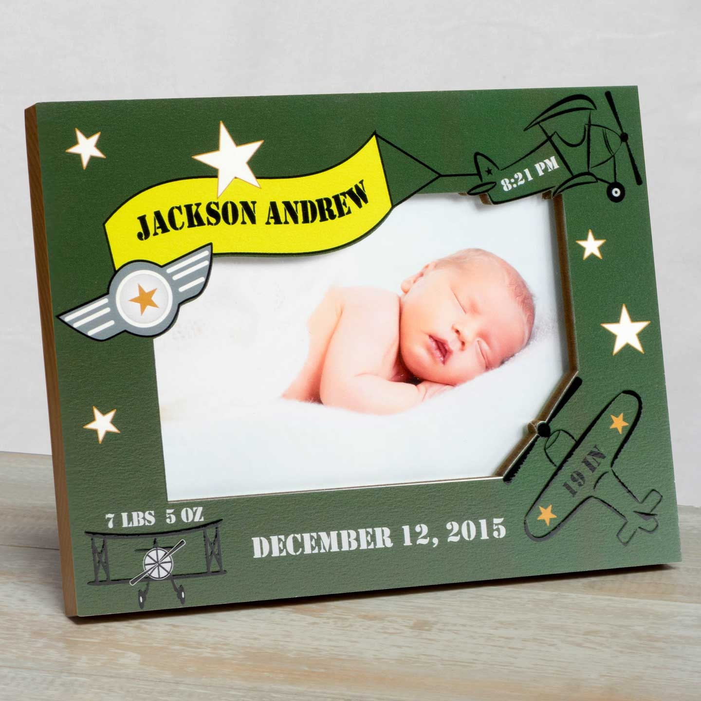 Personalized Baby Picture Frame, Baby Frame For Boys, Baby Boy Birth ...