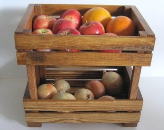 Stackable Fruit Bin - Fruit Bin - Kitchen Storage Bin - Fruit Storage Stand - Kitchen Storage Basket - Vegetable Storage Bin