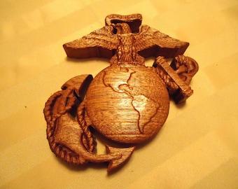 Small Wood 3D E.G.A. Emblem