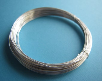 925 Sterling Silver Filled Wire 20 Gauge 9.38 Feet, Dead Soft, Round, Tarnish Resistant, Quality Jewelry Supply. Silver Wire for DIY Jewelry