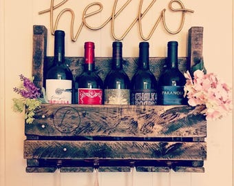 Personalized Wine Rack