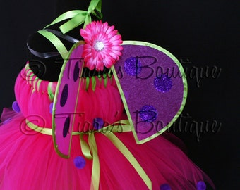 Pink, Green, Purple Lady Bug Wings - Infant/Toddler Ladybug Wings - newborn to 24 months