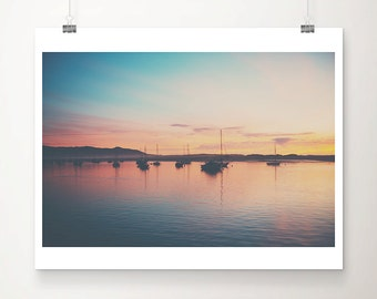 boat photograph morro bay photograph california photograph pacific ocean photograph landscape photograph sunset photograph