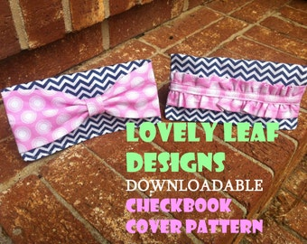Checkbook Cover Pattern (Instant Download)
