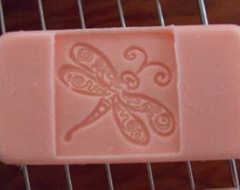 Om Goddess Soap presents..... Dragonfly Goatmilk/Coconut Cream tea rose Soap!