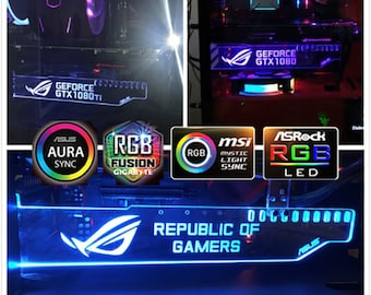 Asus Sync Graphics Card Holder Asus Rgb Remote Multicolor ROG ASUS Republic of Gamers Gpu Support Bracket Pc Decoration LED board