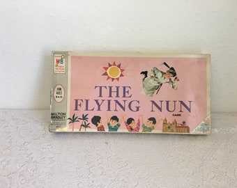 The Flying Nun Board Game, vintage board game, vintage tv show game, vintage television