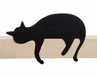 Cat's Meow // Oscar // Metal Designed Art // Unique Gift // Black // Decorative Cat Silhouette by ArtoriDesign