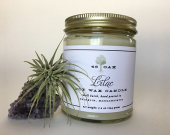 Lilac Soy Wax Candle and Soy Wax Melts-phthalate free Mother's Day Gift bridesmaid gift