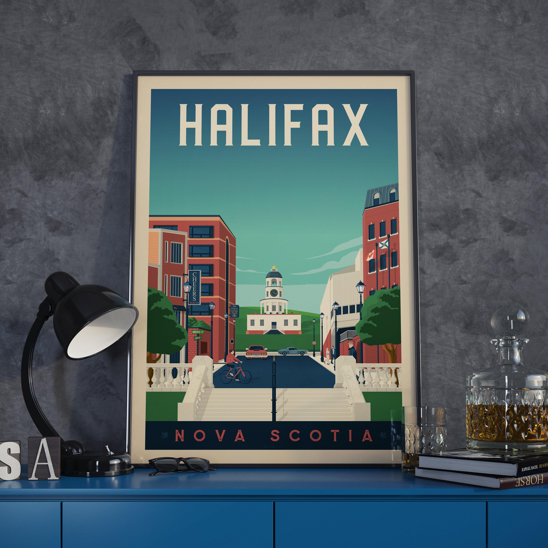 Halifax Canada Vintage Travel Poster, vintage city poster print ...