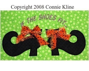 Halloween Witch Shoes applique Embroidery design--fun for fall