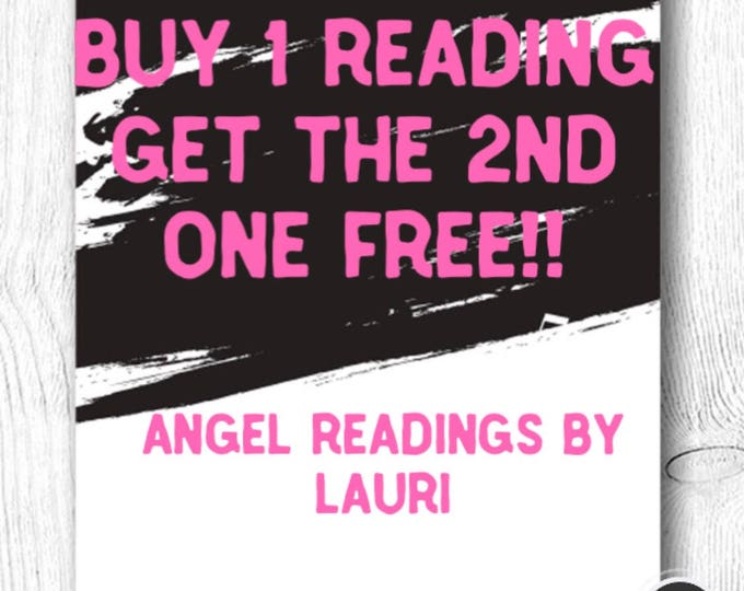 Special!!  Buy 1 Reading Get The 2nd Free  25 Min Voice Recording