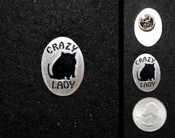 Crazy Cat Lady Lapel Pin