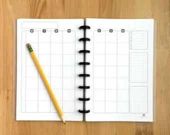 Weekly Activity Planner Pages - Organizer - Undated - Printed - Disc-bound Planner Systems - Fits Circa, Arc, Junior - Half Page Size