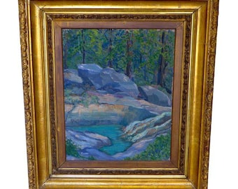 "Transitional Serene Rock Creek, O/C ""Foulke""  Flowing River, Listed Artists"