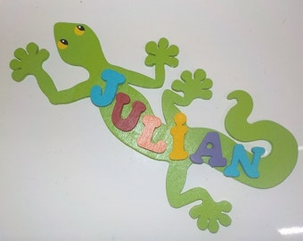 salamander door name plaque personalised wooden letters