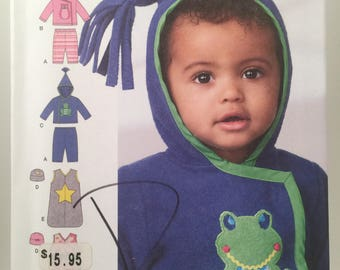 Babies Pants, Simplicity Pattern 1546, Sewing Pattern, Jacket, Hat, Sack,Baby Shower Gift, Stretch Knits, Winter Hat, Child Winter Jacket