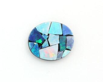 Oval Opal Mosaic 1 Stone,  Genuine Opal Mosaic,  size 12x14mm